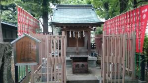 桐ヶ谷氷川神社 忍田稲荷大明神 社殿