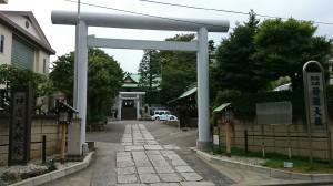 神道大教院 鳥居と社号標