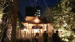 福徳神社 ライトアップ (3)