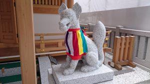 福徳神社 狛狐 (2)