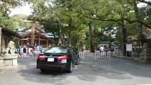 猿田彦神社 拝殿前