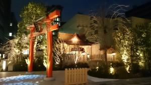福徳神社 ライトアップ (1)