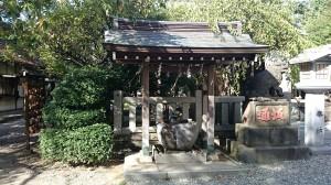 牛天神北野神社 手水舎