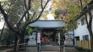 神明氷川神社 社殿 (2)