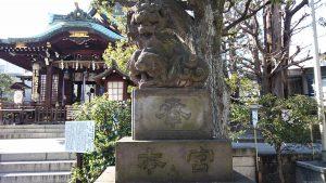 目黒大鳥神社 狛犬(2)