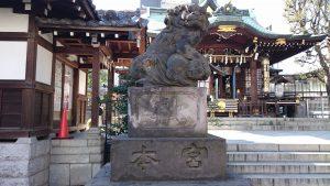 目黒大鳥神社 狛犬(1)