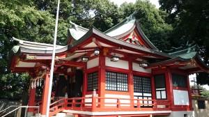 永福稲荷神社 南側全景