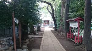 神明氷川神社 参道