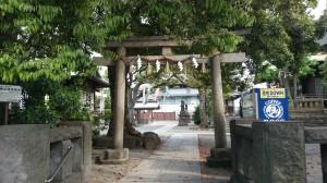 目黒大鳥神社 北側鳥居