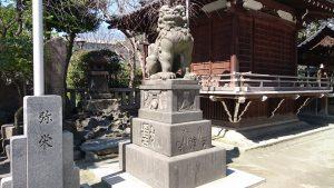 牛嶋神社 参道狛犬 (1)
