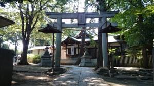下高井戸浜田山八幡神社 東側鳥居