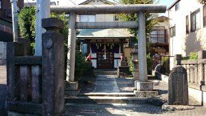目白豊坂稲荷神社 鳥居と社号碑
