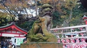 江島神社 狛犬 吽