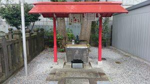 高田氷川神社 手水舎