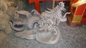 江島神社 龍宮 石像