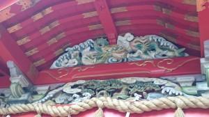 江島神社 中津宮 拝殿彫刻