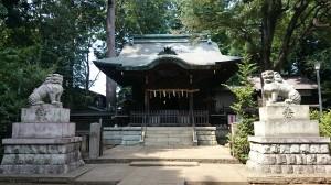 和泉熊野神社 拝殿・御神木