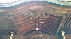 和泉熊野神社 拝殿彫刻 (1)