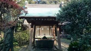 江島神社 奥津宮 手水舎