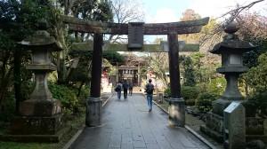 江島神社 奥津宮 鳥居
