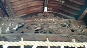 和泉熊野神社 拝殿彫刻 (2)