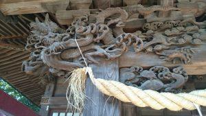 高井戸西第六天神社 拝殿彫刻 (2)