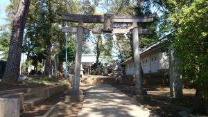 豊玉氷川神社 鳥居と社号標