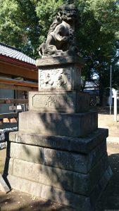 高井戸西第六天神社 大正6年狛犬 (1)
