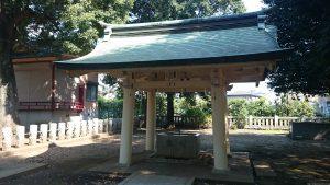 高井戸西第六天神社 手水舎
