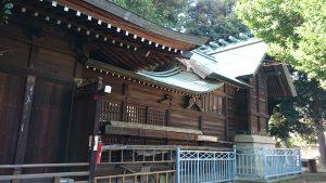 西高井戸松庵稲荷神社 本殿 (2)