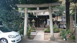 大原稲荷神社 鳥居と社号標