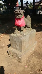 高井戸西第六天神社 明和8年銘石造狛犬 (2)