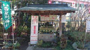 江北氷川神社 手水舎
