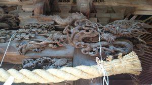 高井戸西第六天神社 拝殿彫刻 (3)