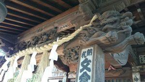 西高井戸松庵稲荷神社 拝殿彫刻