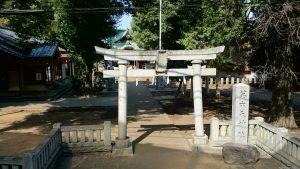 高井戸西第六天神社 境内全景