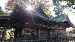 下丸子六所神社 拝殿・本殿全景