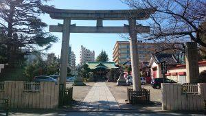 玉姫稲荷神社 鳥居と社号標