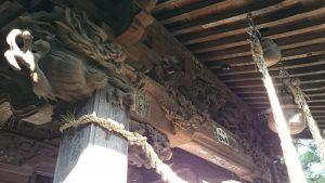 宮前春日神社 拝殿上部彫刻 (1)