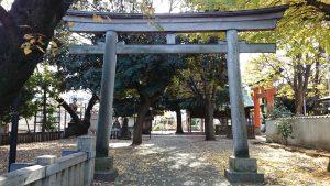 旗岡八幡神社 北側鳥居