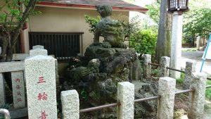新宿下落合氷川神社 狛犬 吽