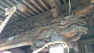 宮前春日神社 拝殿上部彫刻 (2)