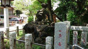 新宿下落合氷川神社 狛犬 阿