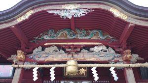 武蔵御嶽神社 拝殿彫刻
