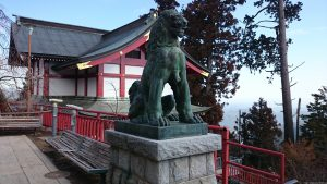 武蔵御嶽神社 狛犬 阿