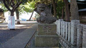 小山八幡神社 西参道狛犬 (2)