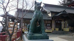 武蔵御嶽神社 狛犬 吽