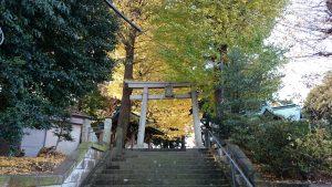 小山八幡神社 社頭
