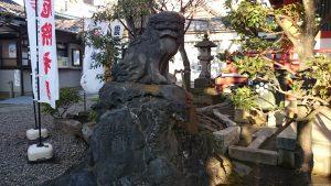 押上高木神社 狛犬 (1)