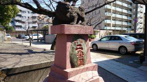 木場洲﨑神社 狛犬 (1)